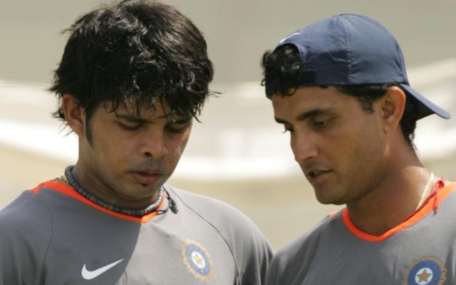 Sreesanth and Sourav Ganguly