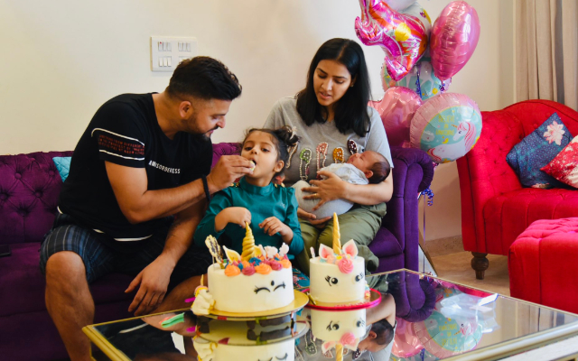 Suresh Raina and his family