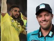 Tabraiz Shamsi and AB de Villiers