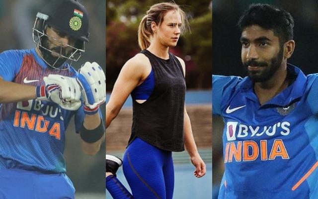 Virat Kohli, Ellyse Perry and Jasprit Bumrah