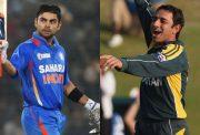 Virat Kohli and Saeed Ajmal