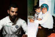 Virat Kohli and his father Prem Kohli