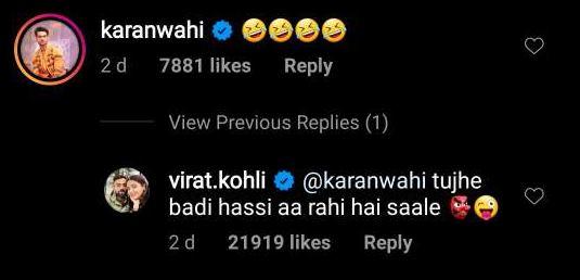 Virat Kohli's reply
