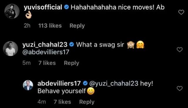 AB de Villiers' reply