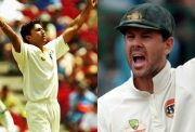 Ajit Agarkar and Ricky Ponting