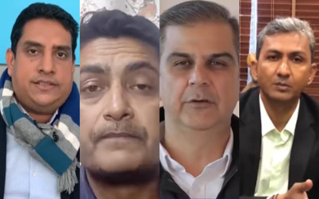 Boria Majumdar, Deep Dasgupta, Nikhil Chopra and Sanjay Bangar