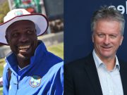 Curtley Ambrose and Steve Waugh