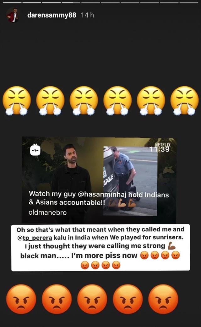 Darren Sammy's Instagram story