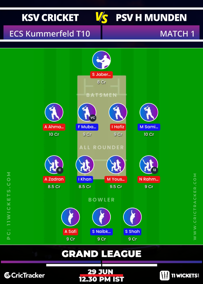 ECS-Kummerfeld-T10-2020-Match-1,-KSV-Cricket-vs-PSV-Hann-Munden-11Wickets-GL