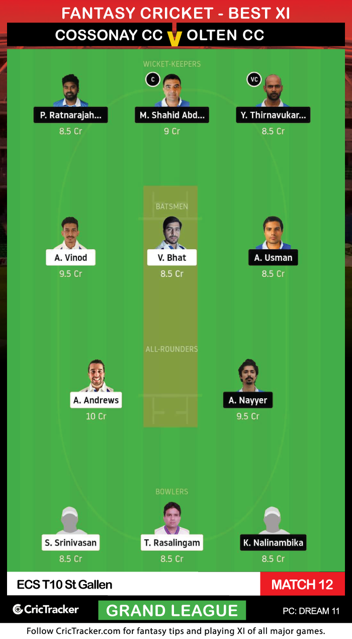 ECS-T10-St-Gallen-2020-–-Match-12,-Cossonay-CC-vs-Olten-CC-Dream11-Fantasy-GL