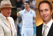 Geoffrey Boycott, Kevin Pietersen and Michael Vaughan
