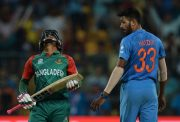 Hardik Pandya and Mushfiqur Rahim