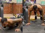 Hardik Pandya's workout video