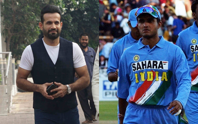 Irfan Pathan and Sourav Ganguly