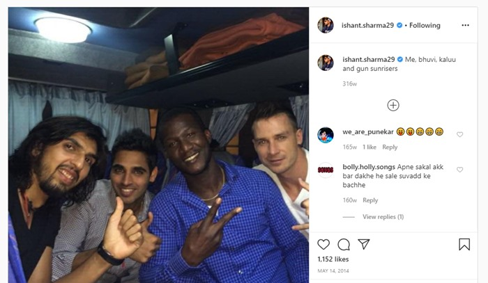Ishant Sharma's Instagram post