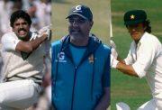 Kapil Dev, Waqar Younis and Imran Khan