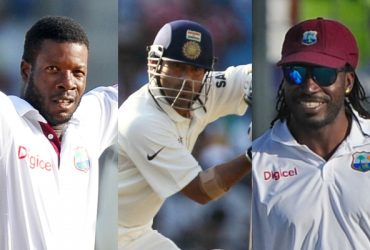 Kirk edwards, Sachin Tendulkar and Chris Gayle