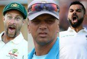 Matthew Wade, Rahul Dravid and Virat Kohli