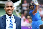 Micheal Holding and Rohit Sharma