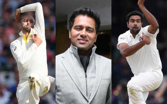 Nathan Lyon, Aakash Chopra and Ravi Ashwin