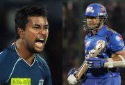 Pragyan Ojha and Sachin Tendulkar