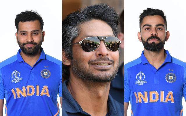 Rohit Sharma, Kumar Sangakkara and Virat Kohli