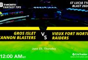STLuciaT10Blast-4thMatch-Gros-Islet-Cannon-Blasters-vs-Man-Repos-Stars