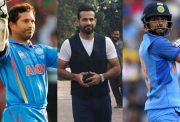 Sachin Tendulkar, Irfan Pathan and Virat Kohli