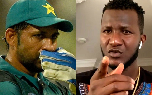 Sarfraz Ahmed and Darren Sammy