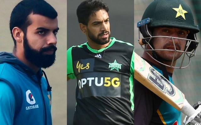 Shadab Khan, Haris Rauf and Haider Ali