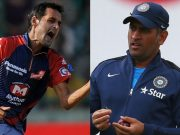 Shahbaz Nadeem and MS Dhoni