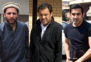 Shahid Afridi, Waqar Younis and Gautam Gambhir