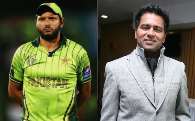 Shahid Afridi and Aakash Chopra