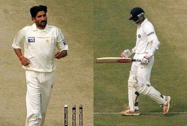 Sohail Tanvir and Rahul Dravid