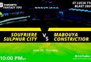 St.LuciaT10Blast-Match5-Soufriere-Sulphur-City-vs-Mabouya-Constrictior-10.00PM