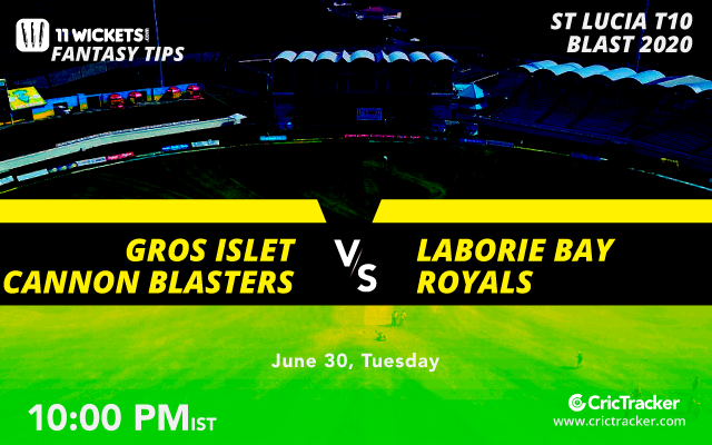 StLuciaT10-30thJune-Gros-Islet-Cannon-Blasters-vs-Laborie-Bay-Royals-10PM