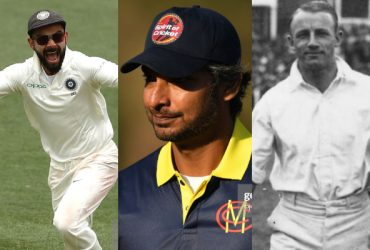 Virat Kohli, Kumar Sangakkara and Don Bradman