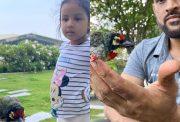 Ziva Singh Dhoni and MS Dhoni