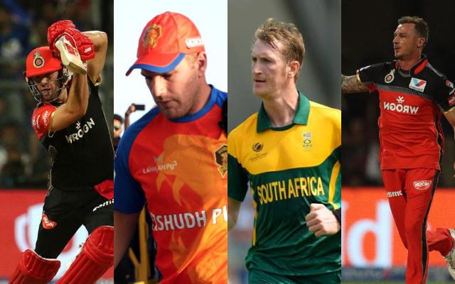 AB de Villiers, Aaron Finch, Chris Morris and Dale Steyn
