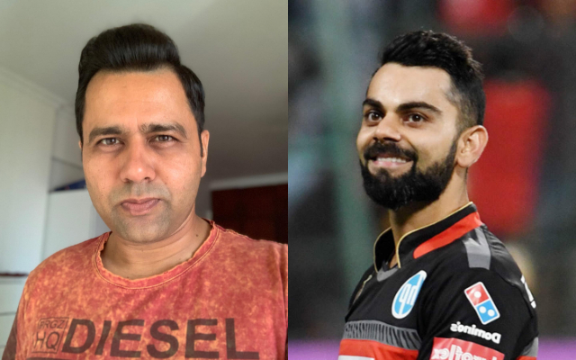 Aakash Chopra and Virat Kohli