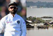 Ajinkya Rahane and Assam floods