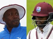 Curtly Ambrose and Shai Hope