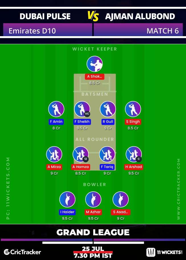 Emirates-D10-League-2020-Match-6,-Dubai-Pulse-Secure-vs-Ajman-Alubond-–-11Wickets-Fantasy-GL
