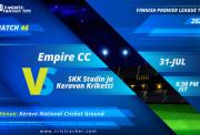 Finnish-Premier-League-T20-Match-46-Empire-CC-Vs-SKK-Stadin-ja-Keravan-Kriketti-11Wickets-FI