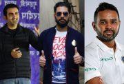Gautam Gambhir, Yuvraj Singh and Parthiv Patel
