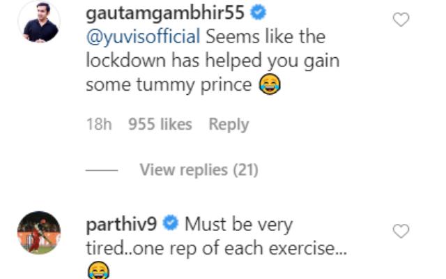 Gautam Gambhir and Parthiv Patel's reply