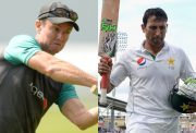 Grant Flower and Younis Khan