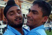 Harbhajan Singh and Mohammad Kaif