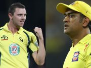 Josh Hazlewood and MS Dhoni