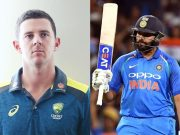 Josh Hazlewood and Rohit Sharma
